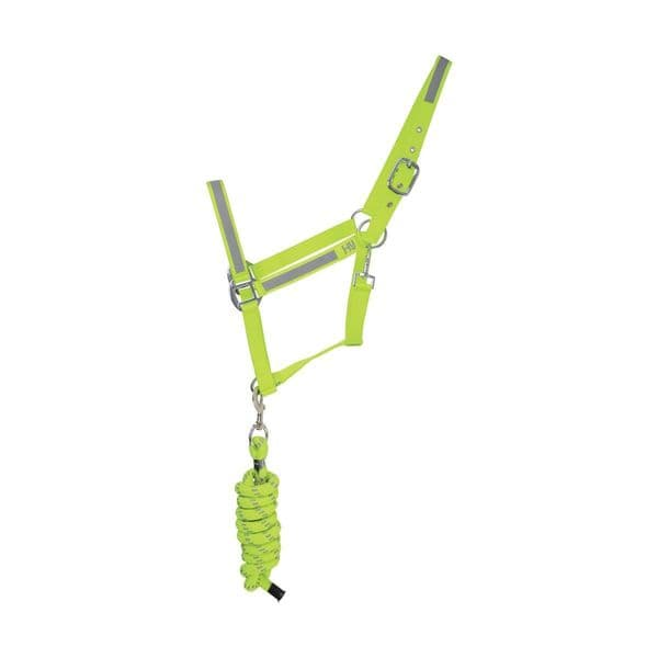 Reflector head collar and lead rope by hy equestrian - cob